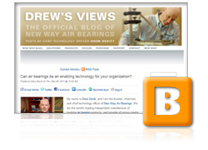 New Way launches its official blog, Drew's Views, featuring posts by Drew Devitt