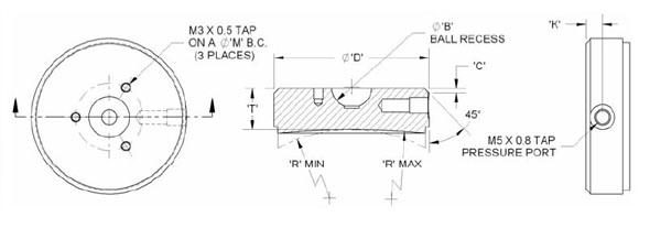 standard product line spherical air bearings