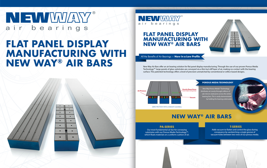Flat Panel Display Manufacturing with New Way Air Bars