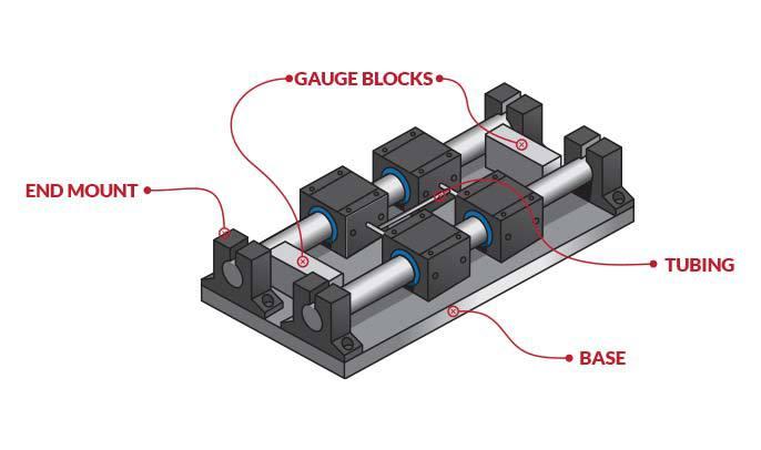 Diagram of delay table air bearing setup.